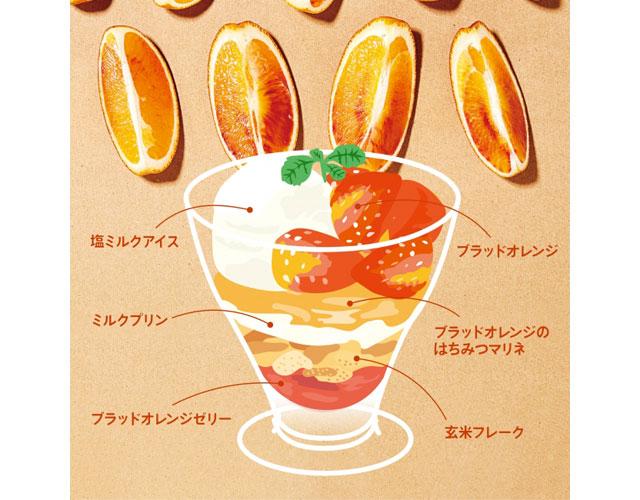大戸屋から『ブラッドオレンジのパフェ』と『塩ミルクアイスと揚げたてドーナッツ』登場