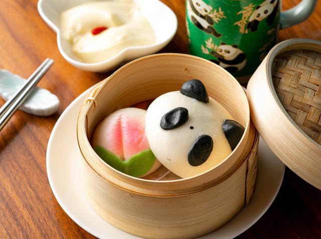 今泉の中国茶カフェ・チャイナカフェでパンダあんまんが可愛いテイクアウト限定の「パンダセット」が登場!