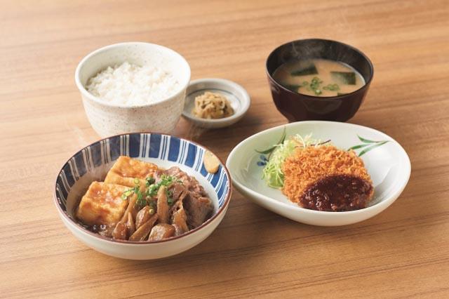 やよい軒から『肉豆腐と焼魚の定食』と『肉豆腐とメンチカツの定食』新発売へ