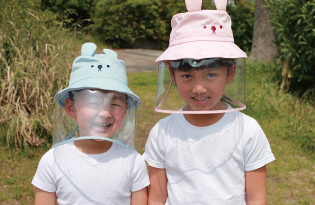 かぶるだけでOK!「飛沫対策ガード帽子(こども用)」予約販売開始