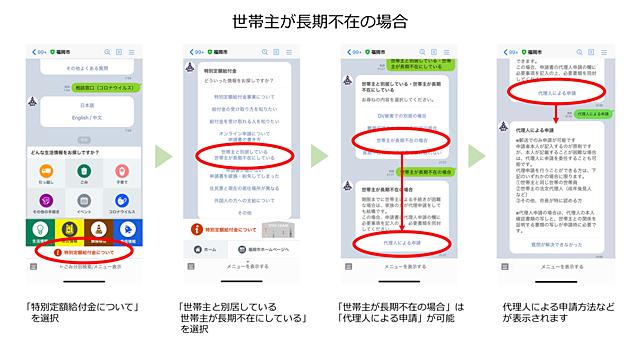 福岡市LINE公式アカウントにチャットボットによる「特別定額給付金案内機能」追加