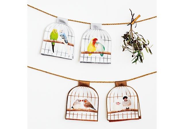 フェリシモから「仲むつまじい小鳥と暮らす鳥かごのフェイスタオル」登場