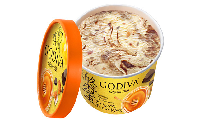 ゴディバ カップアイス 「蜂蜜アーモンドとチョコレートソース」セブン限定発売