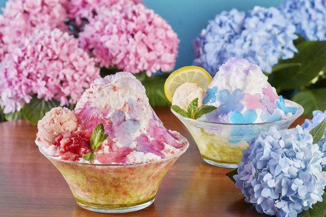 中国茶カフェ・チャイナカフェより進化系の台湾カキ氷「紫陽花のカキ氷」販売スタート