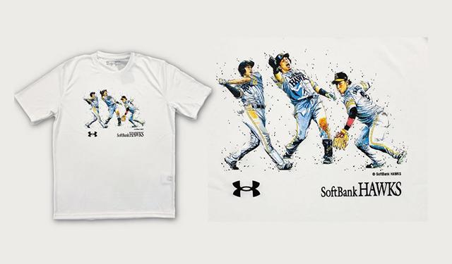 似顔絵の世界大会である「ISCAカリカチュア世界大会」において優勝した経歴のあるアーティスト田村大さんとのコラボレーションTシャツ「HAWKS×田村大コラボTシャツ」販売開始