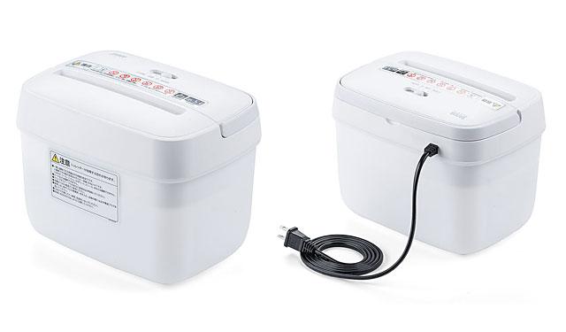 サンワサプライから「卓上コンパクト電動シュレッダー」販売開始