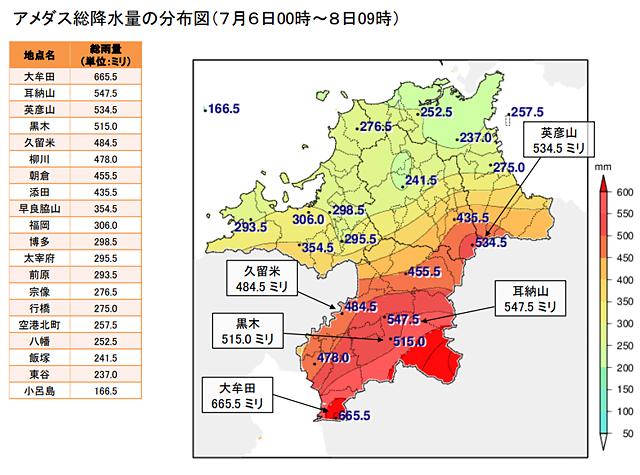 福岡管区気象台が「6日から8日にかけての福岡県の大雨」について発表