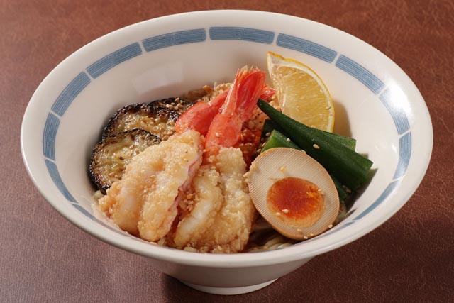大海老と夏野菜のレモン冷やし中華 799円(税抜)