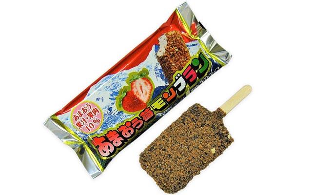 福岡県産「あまおう苺」の果肉とミルク風味のアイス「あまおう苺モンブラン」発売開始