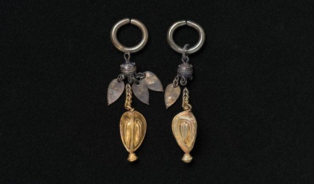 金製垂飾付耳飾割塚古墳古墳後期橿考博蔵