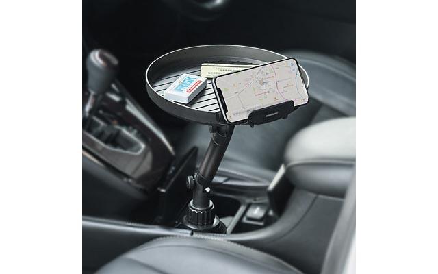 サンワサプライから車のドリンクホルダーに設置可能な「車載用テーブル」登場