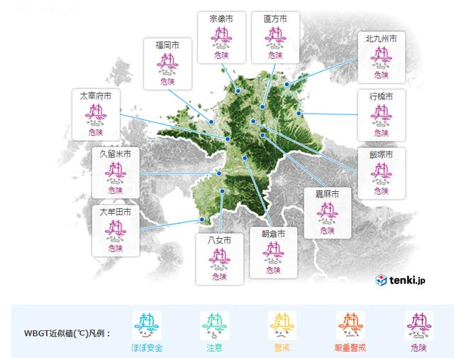 8月18日 福岡県に「高温注意情報」熱中症に十分な対策を