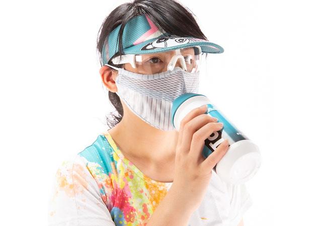 パンダーニからマスクしたまま水を飲める「ウォーターマスク」登場
