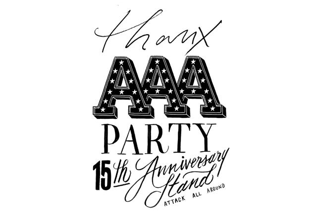 映画館をコンセプトにしたコラボカフェ「THANX AAA PARTY ~15th AnniversAry stAnd~」天神で開催中!
