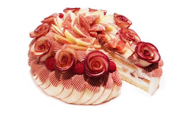 カフェコムサ、9月のショートケーキの日は「アップルローズのモンブランショートケーキ」