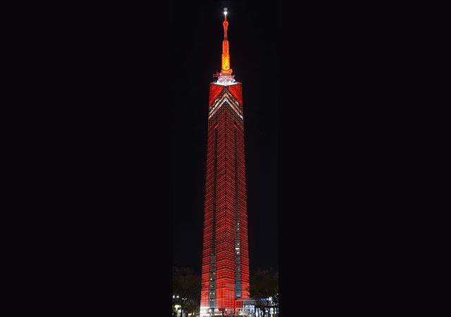 福岡タワーが真っ赤に染まる「展望の日」10(てん)月1(ぼう)日