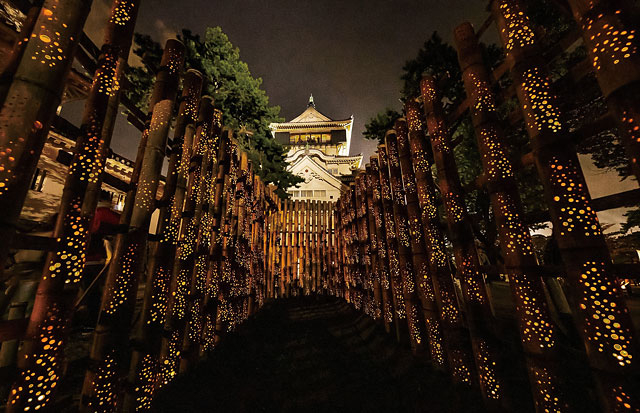 市民力で、小倉城に2万8千個の灯籠を。第二回「小倉城たけあかり」開催へ