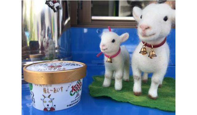 宇美町町制施行100周年記念コラボ商品「梅ぇ~アイス」を販売