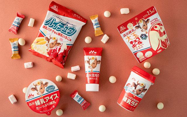 ファミマ×森永乳業×森永製菓「た~っぷりミルクの練乳ラテ」など4種新発売へ
