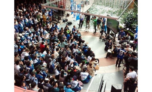 サッカーJ2 アビスパ福岡「パブリックビューイング in キャナルシティ博多」実施へ