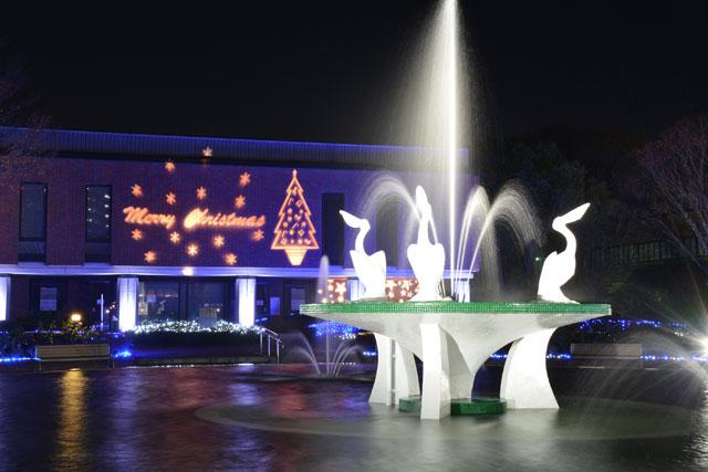 久留米市、石橋文化センターで「クリスマスライトアップ&イルミネーション」開始