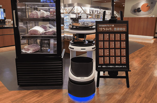焼肉ヌルボンガーデン新宮店に配膳・運搬ロボット「Servi」登場、九州初。
