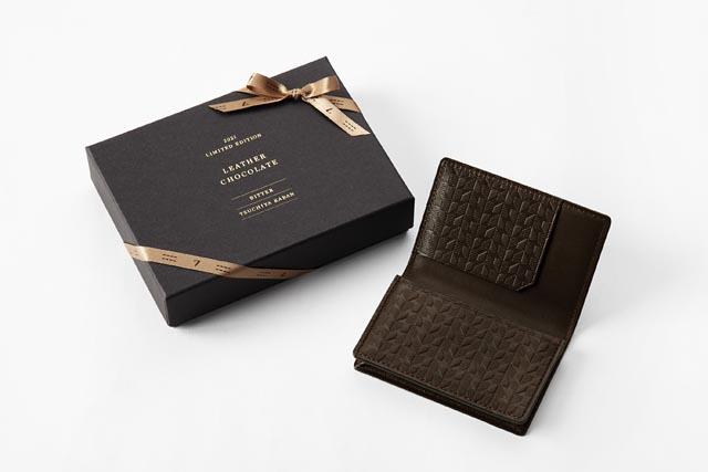 土屋鞄製造所からバレンタイン限定製品「レザーチョコレート INOMEカードケース」発売へ