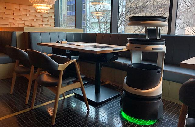 「博多もつ鍋 おおやま 都ホテル 博多」にて配膳・運搬ロボットの実証検証開始