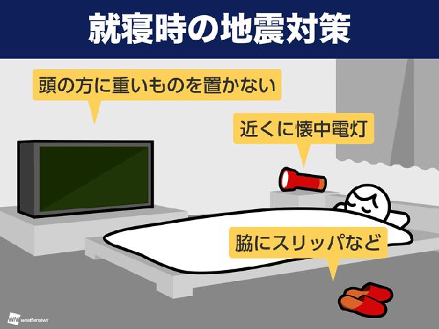 今夜からすぐできる「就寝時の地震対策」