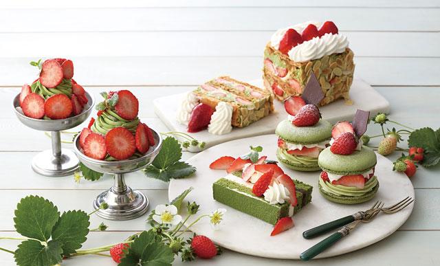 キハチ カフェから「苺と宇治抹茶をテーマにした新作スイーツ」4種発売へ