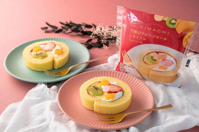 ファミマからpatisserie KIHACHI監修「5種のフルーツロール トライフル」さらに美味しくなって発売へ