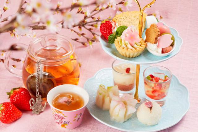 今泉の中国茶カフェ「チャイナカフェ」桜といちごのアフタヌーンティー販売スタート