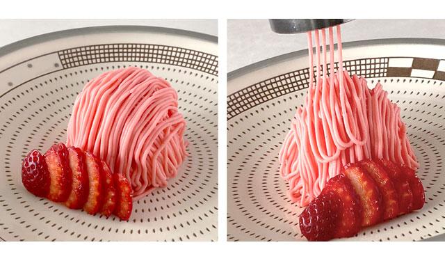 オリエンタルホテル福岡 博多ステーションに「しぼりたて苺のモンブラン」登場