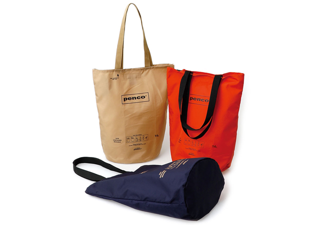 バケツのような形状が特徴、長さがあるものも安定して収納『penco』よりバケツ型バッグが新登場