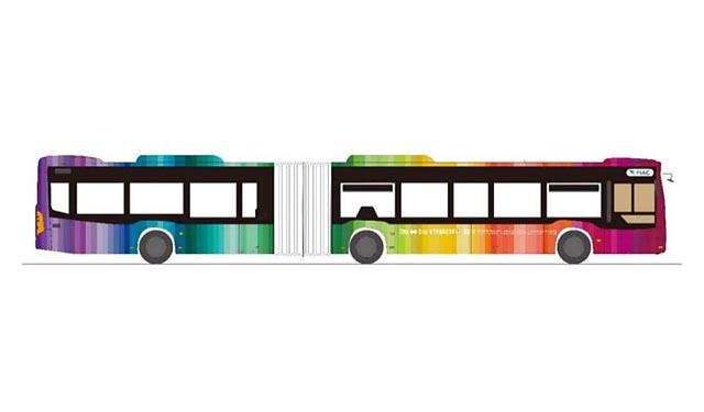 福岡空港 国内線・国際線連絡バスに「連節バス」導入へ
