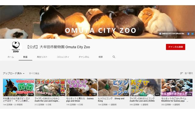 大牟田市動物園の公式YouTubeチャンネルがすごく楽しい
