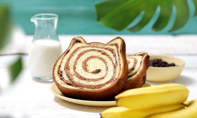 ねこねこ食パン、7月の限定フレーバーは「トロピカルチョコバナナ」