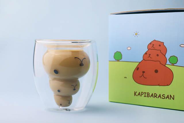 キュルッとショップ 福岡パルコ店に世界初となる「カピバラさん」ダブルウォールグラス登場へ