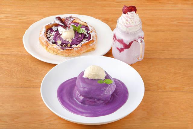 オリジナルパンケーキハウスから沖縄県産 紅いもを贅沢に使用した見た目も美しいパンケーキ発売へ
