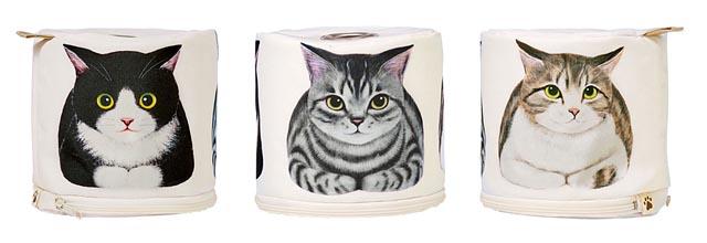 フェリシモ猫部から「香箱座り猫さんのロールペーパーホルダー」登場