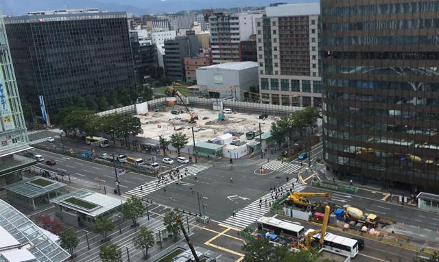 福岡市が進める再開発事業「博多コネクティッド」博多駅西側エリアに広場など整備案