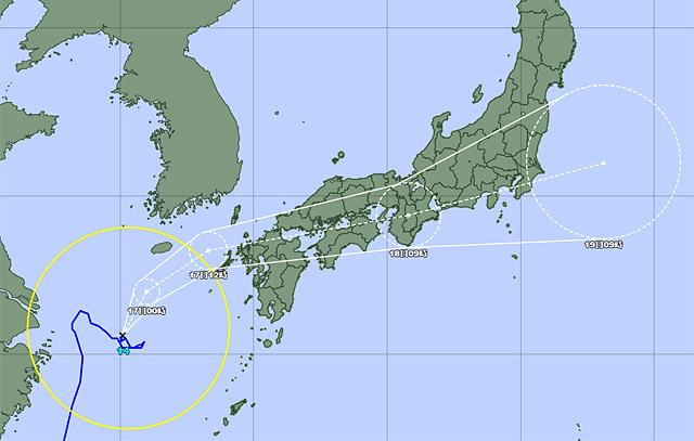 台風14号、17日(金)に九州に接近、早めの備えを