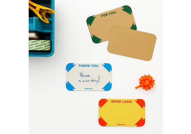 様々な小物アイテムが新登場!メッセージカードやインデックス付箋、リフレクターキーチェーン新発売