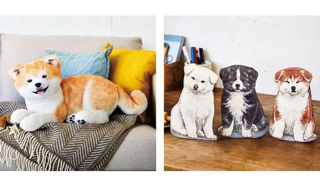 秋田犬保存会監修「もふもふ秋田犬ぬいぐるみ〈子犬〉」と「秋田犬の子犬がおすわり 自立するダイカットポーチ」フェリシモから登場