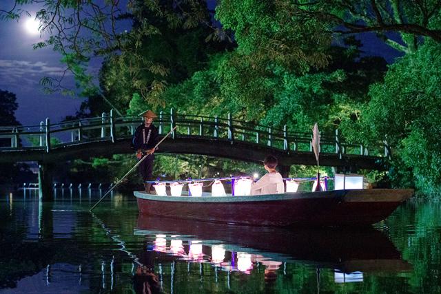 お舟の上でお月見「柳川藩主立花邸 御花」月を愛でる舟遊びが愉しめる特別プラン販売開始