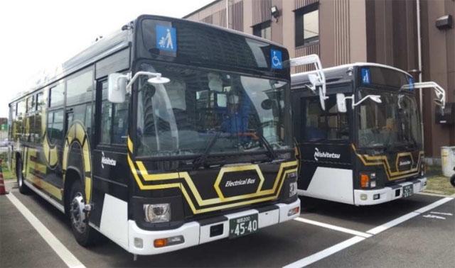 西鉄バス北九州小倉自動車営業所、西鉄アイランドシティ自動車営業所で電気バスを導入した実証実験