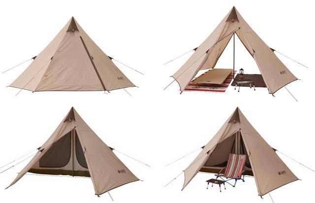 ロゴスから寝室とリビングスペースを確保できる、ソロキャンプにも最適な組立て簡単ワンポールテント登場