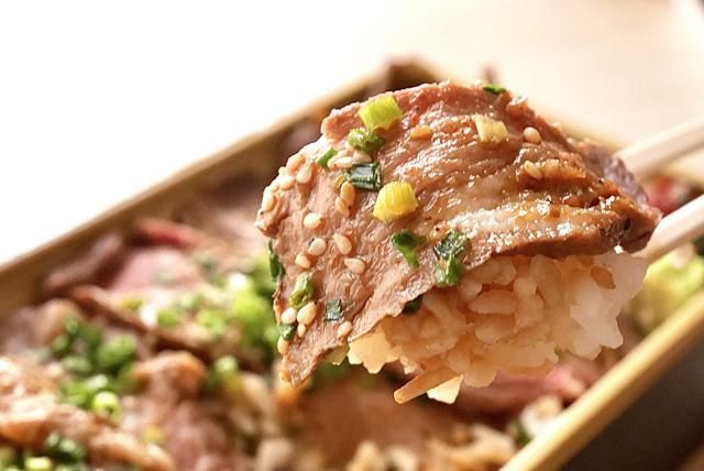天神の人気焼肉『参星』の「牛カルビステーキ重」期間限定で割引で販売開始!